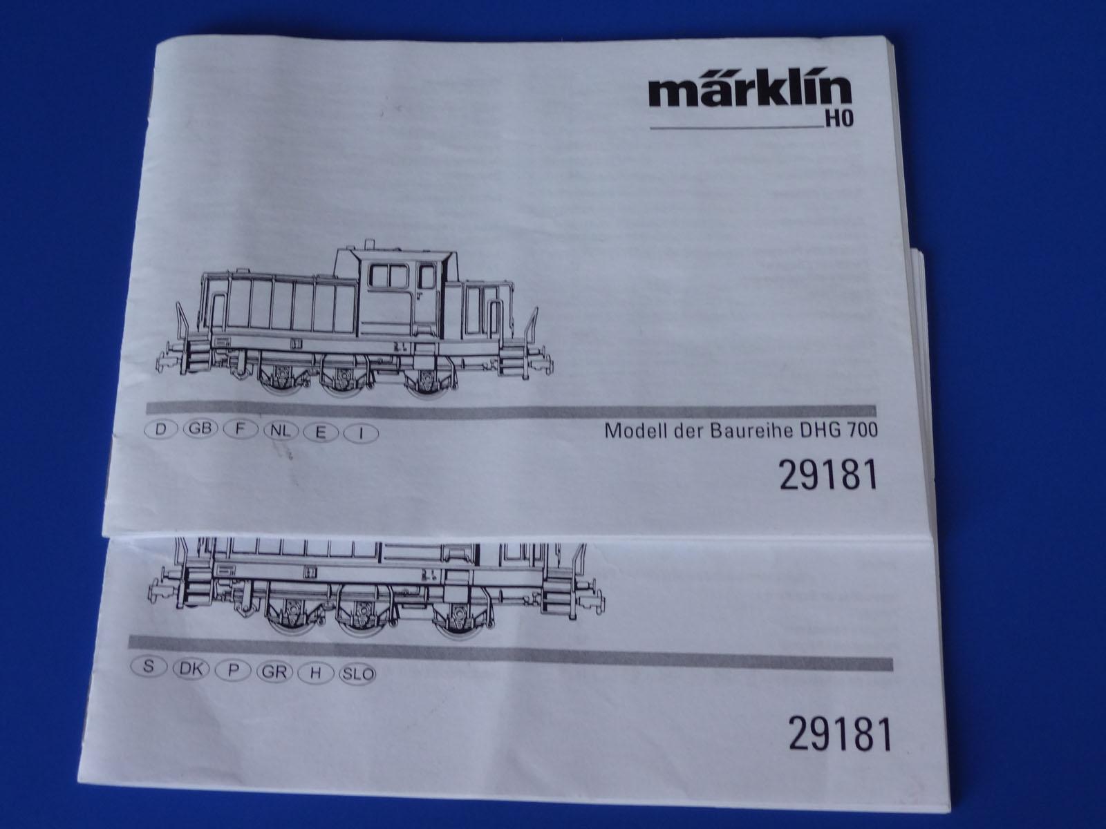 Märklin h0 Signal Diesel Locomotive DHG-Pièce de rechange